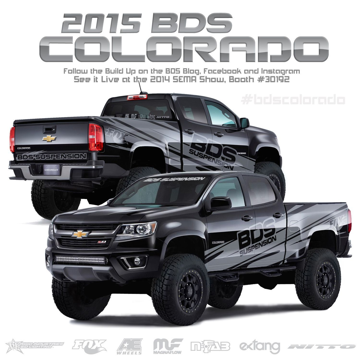 Bds suspension has given us a sneak peek at their 2015 chevy colorado sema show build