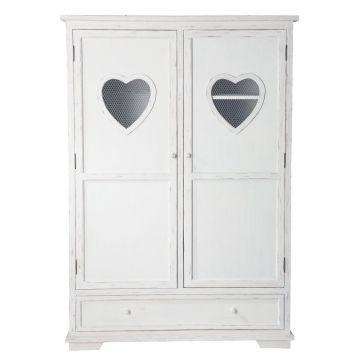 Schrank aus Holz, B130 , weiß Valentine Valentine