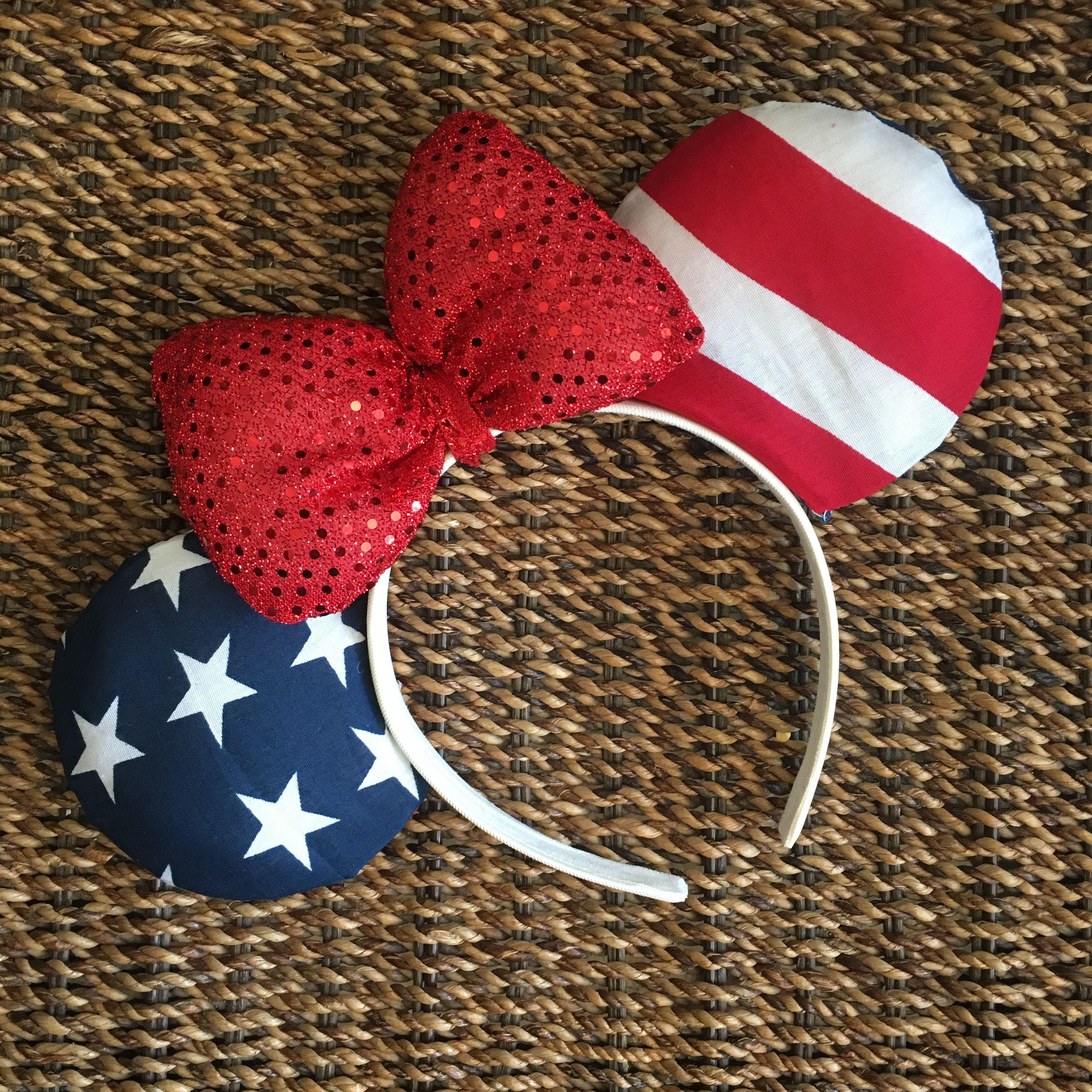 NEW Set of 2 Star Hair Clips red white blue superhero america flag 4th of July