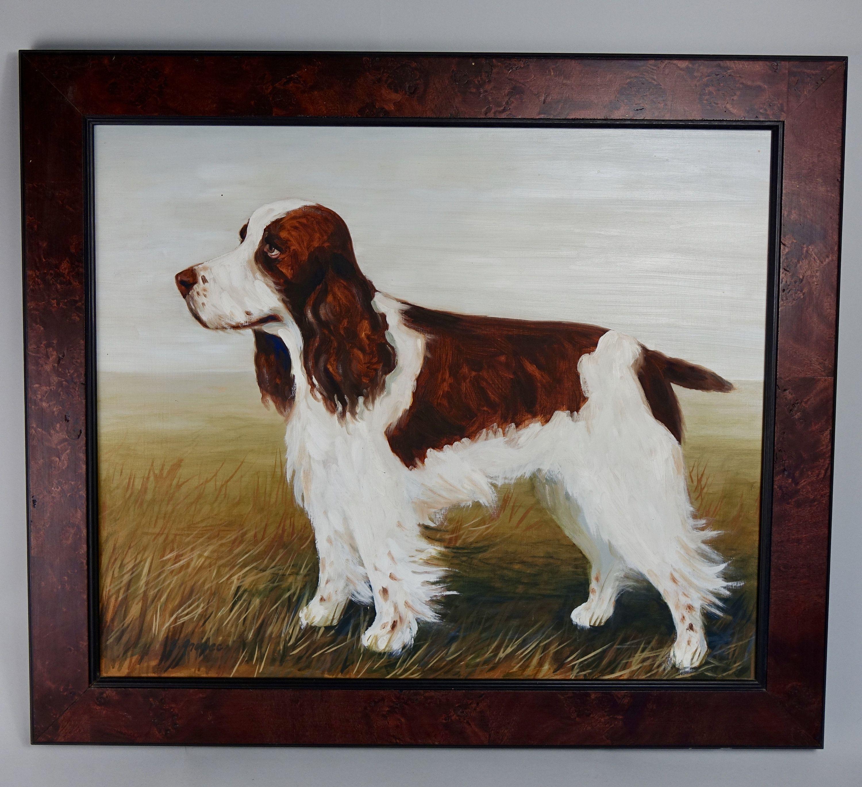 Springer Spaniel Framed Oil Painting Framed oil painting