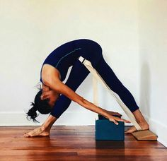 head to knee with blocks strap and wedge  iyengar yoga
