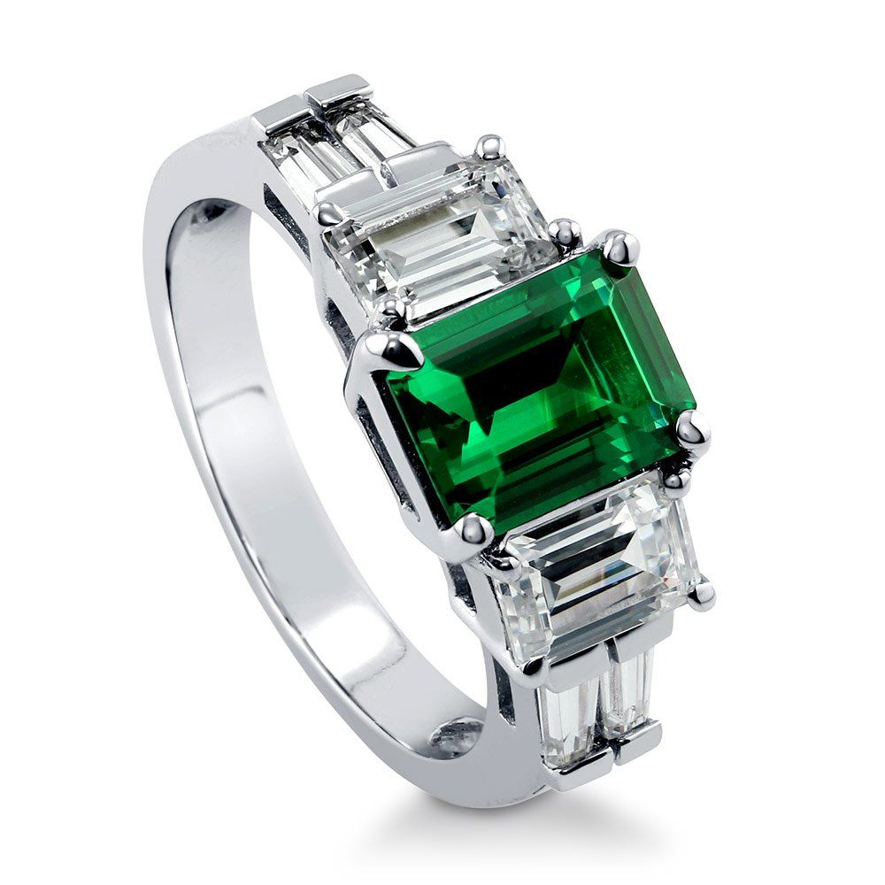Berricle sterling silver emerald simulated