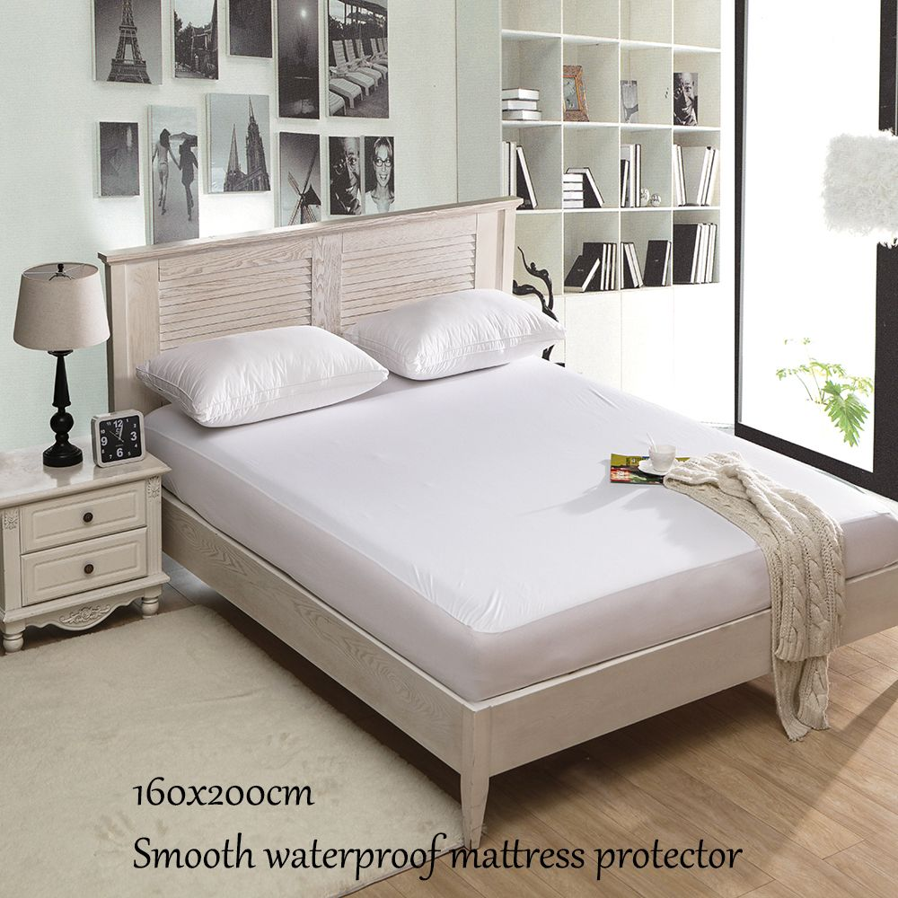 New Style 160x200CM Smooth Waterproof Mattress Cover Anti