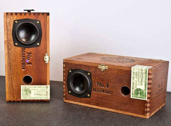 Cool Speaker Boxes custom cedar cigar box powered speakers   cigar boxes, speakers