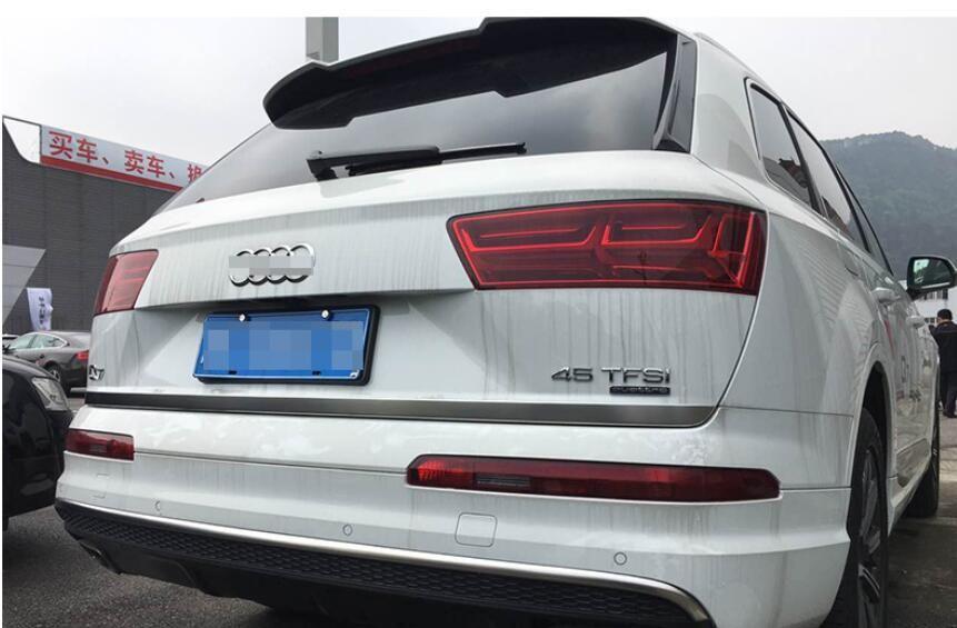 Matt Stainless Rear Tailgate Door Trunk Gate Bottom Lid Cover Trim Strip 1pcs For Audi Q7 2016 2017 Audi Q7 Interior Accessories Audi Q7 2016