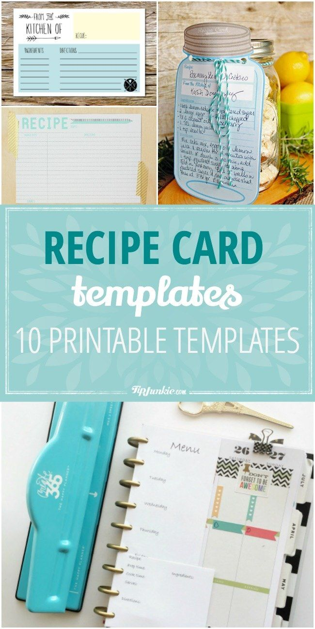 10 printable recipe card templates free