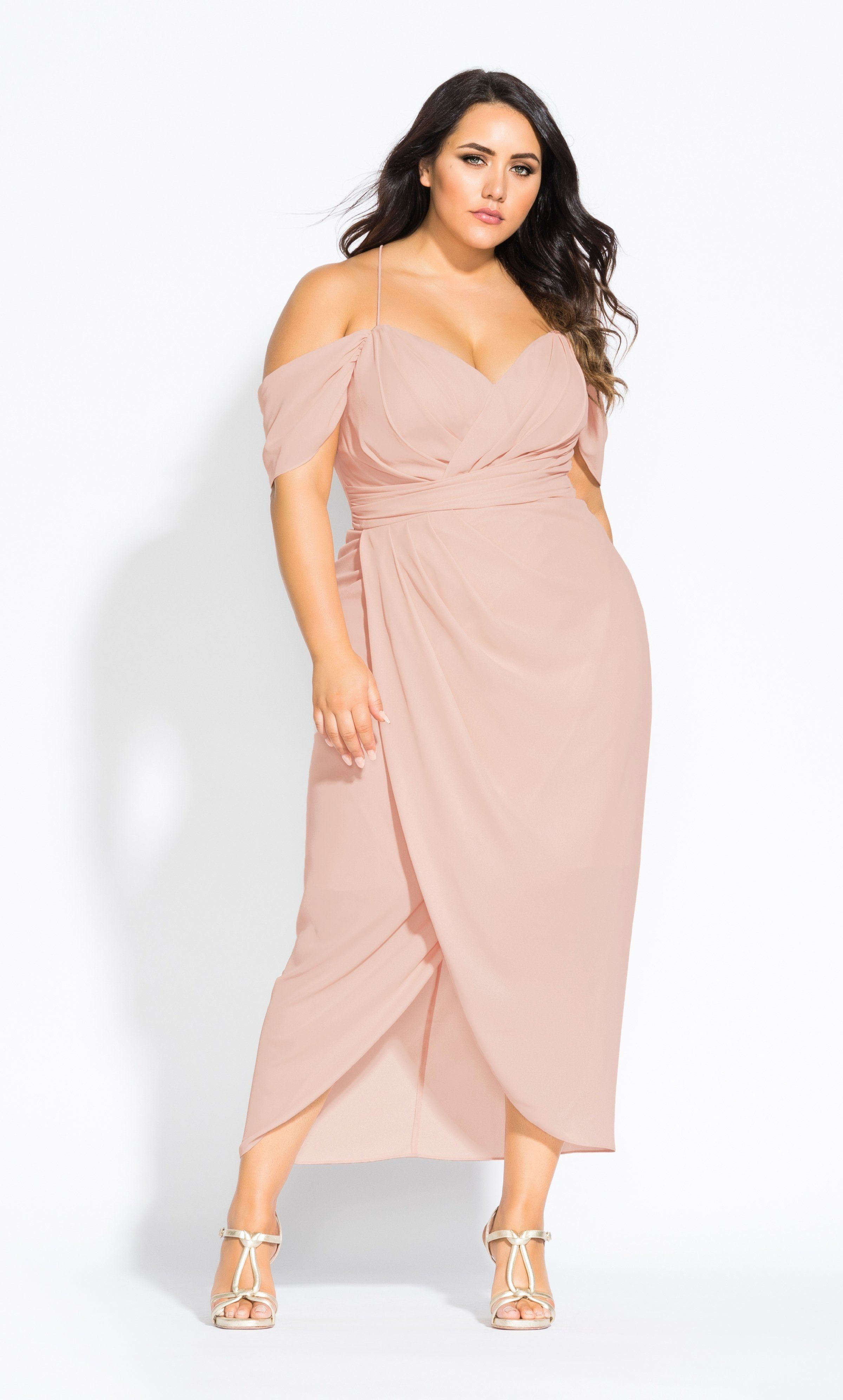 Entwine Maxi Dress - pink | Bridesmaid dresses plus size ...