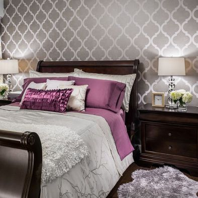 Like the wall paper for a feature wall behind the bed head for Wallpaper for wall behind bed