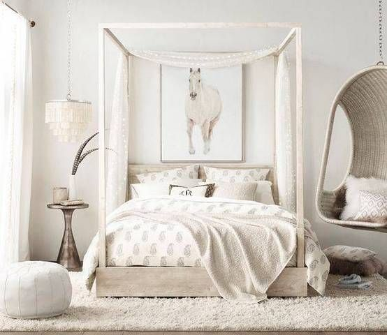 Trendy Teen Girls Bedding Ideas With A Contemporary Vibe: Off White Bedrooms, All White