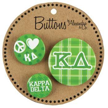 Buttons – Kappa Delta / AA1055 | GREEK GALLERY