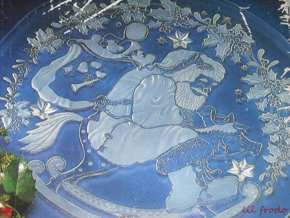 Mikasa Crystal Cake Plate Christmas Winterland 15 inch Studio Nova ...