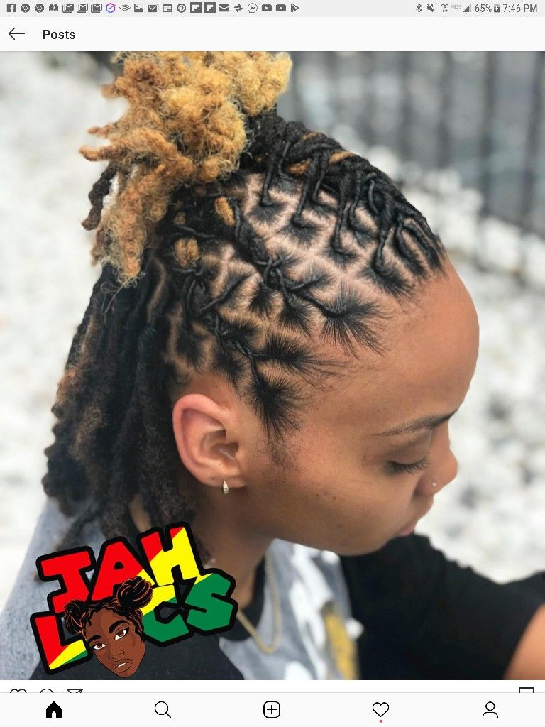 Starter Locs Loc Styles By Styles By Bremichelle In 2020 Short Dreadlocks Styles Short Locs Hairstyles Hair Styles