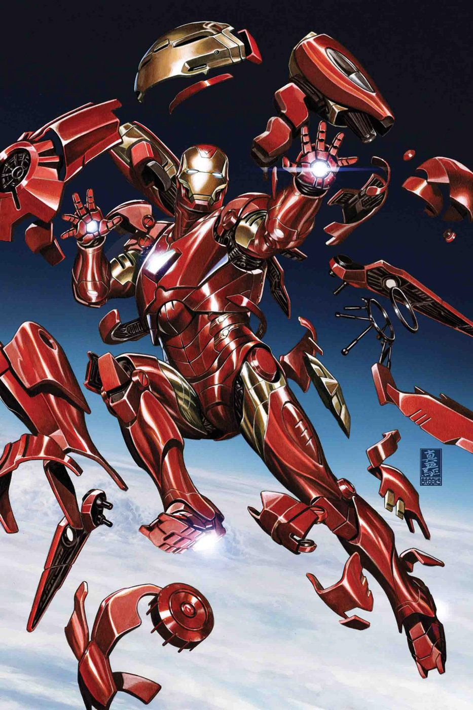 Tony Stark Iron Man 2 Dan Slott W Valerio Schiti A Cover By Alexander Lozano Variant Cover By Mark Brooks Iron Man Comic Iron Man Art Iron Man