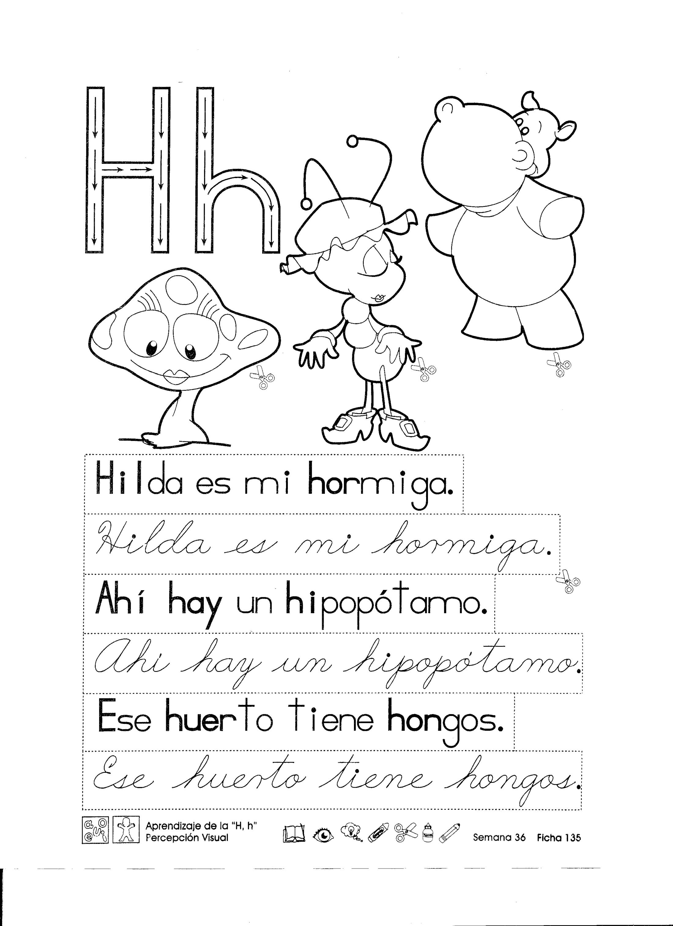 Aprendizaje De La H H Percepción Visual 1er Grado Material De Aprendizaje Aprendizaje Actividades De Letras Fichas