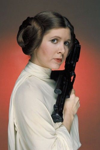 Carrie Fisher in Star Wars Episode IV: A New Hope Okay, how could we not include these buns? #refinery29 http://www.refinery29.com/2013/09/53175/movie-hairstyles#slide-18