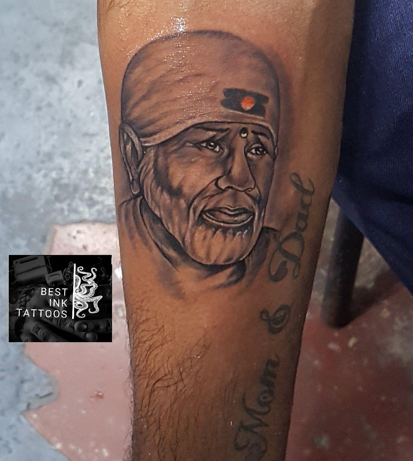sai baba tattoo. hand tattoo artistaditya koley Bangalore