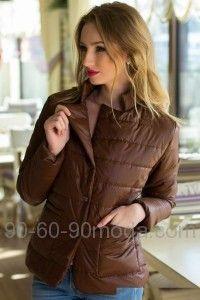 841a5f7a9bd Женская коричневая куртка 5009014