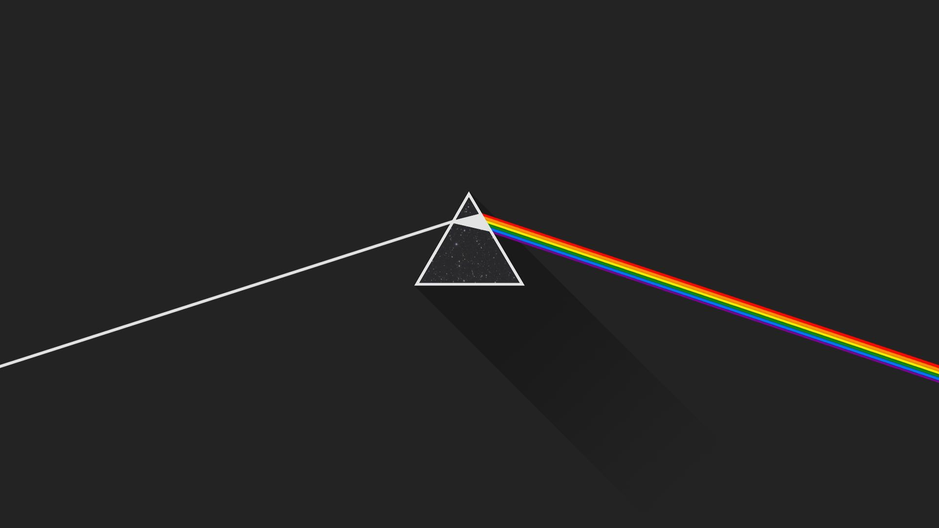 Wallpaper Pink Floyd The Dark Side Of The Moon Triangle Shape Multi Colored Pink Floyd Wallpaper Pink Floyd Background Pink Wallpaper Desktop