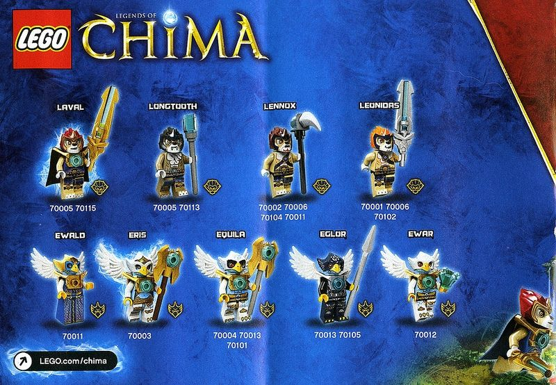 LEGO Legends of Chima Good Tribes: Laval, Longtooth ...