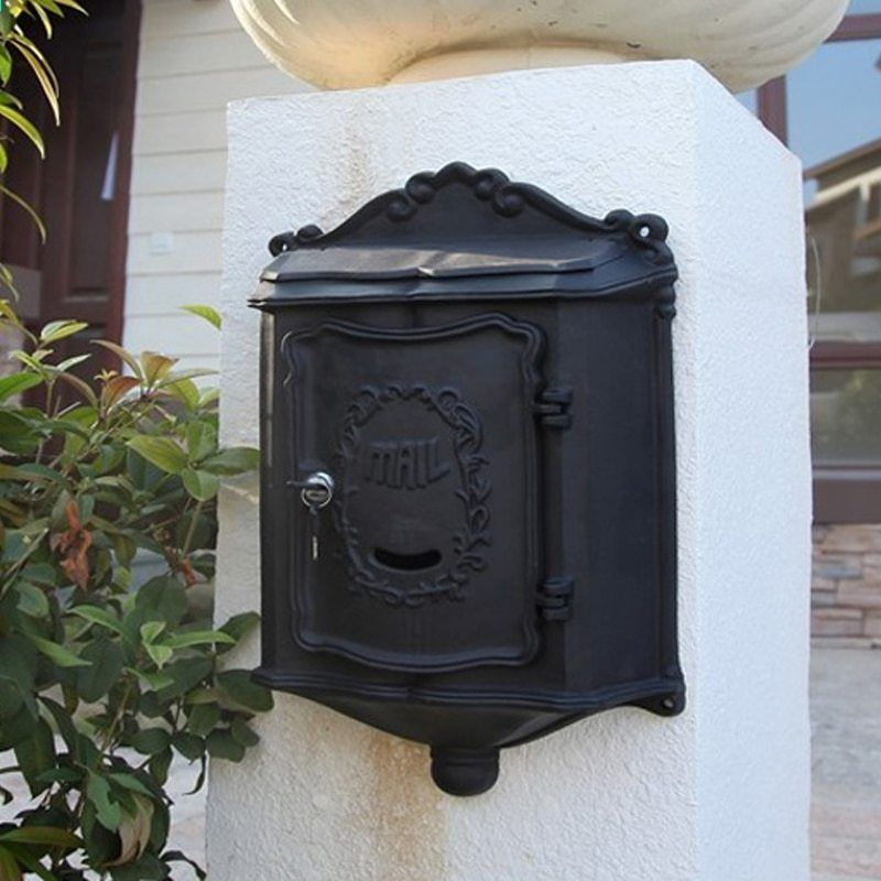 Art Nouveau Letter Box Country House Style Wall Mount Cast Aluminium Letter Box Country Style Homes House Styles
