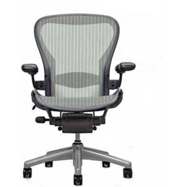Buy Used Herman Miller Aeron Loaded Lead Grey Chair Comfortable Office Chair Restoration Hardware Dining Chairs