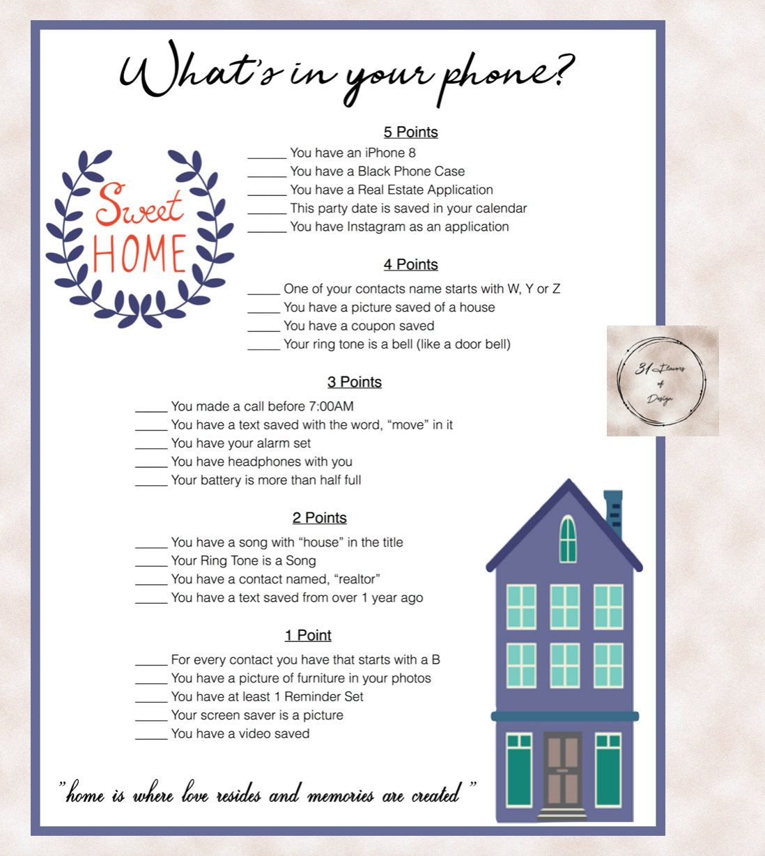 House Warming Party What's in your phone? Download