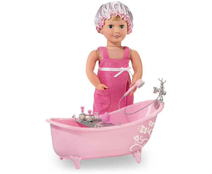 Slipper Tub With Beauty Product Set Our Generation Dolls