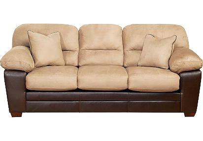 I Like This Two Tone Couch But It S Too Puffy And Over