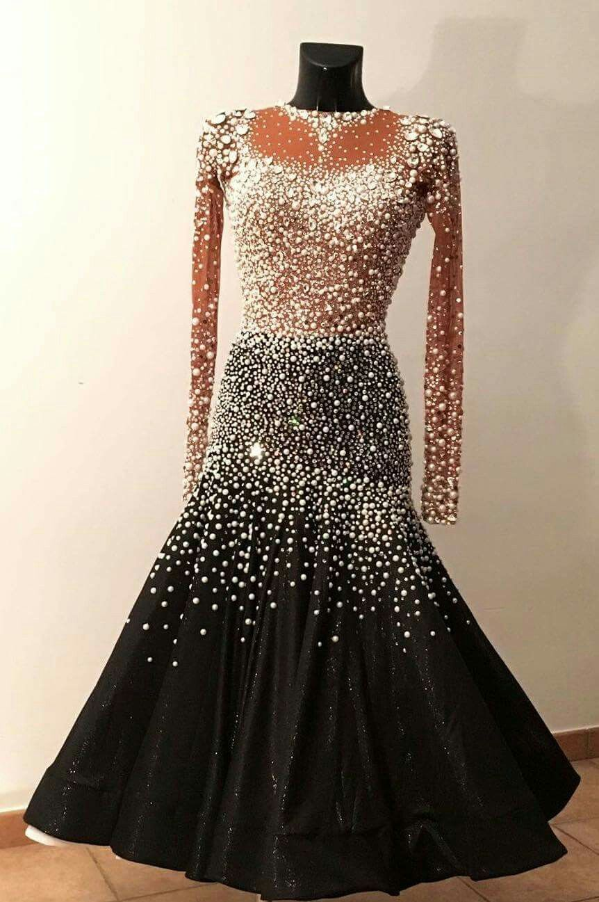 69c3c755d000 Ballroom Dance Dress- formal. The cut of the skirt shows off styling ...