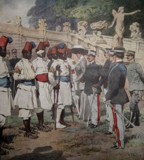Italian Colonial  and European Soldiers