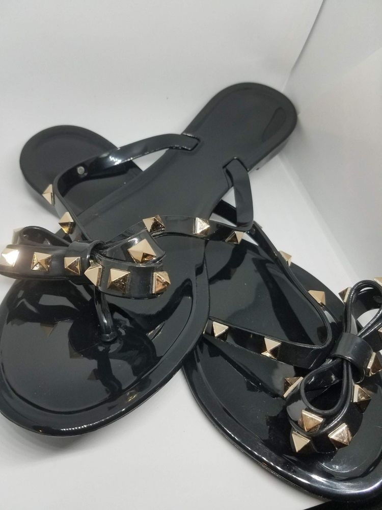 401c8bea36a6 Details about New Women s Sandal Thong Flip Flop Studded Bow Comfort ...