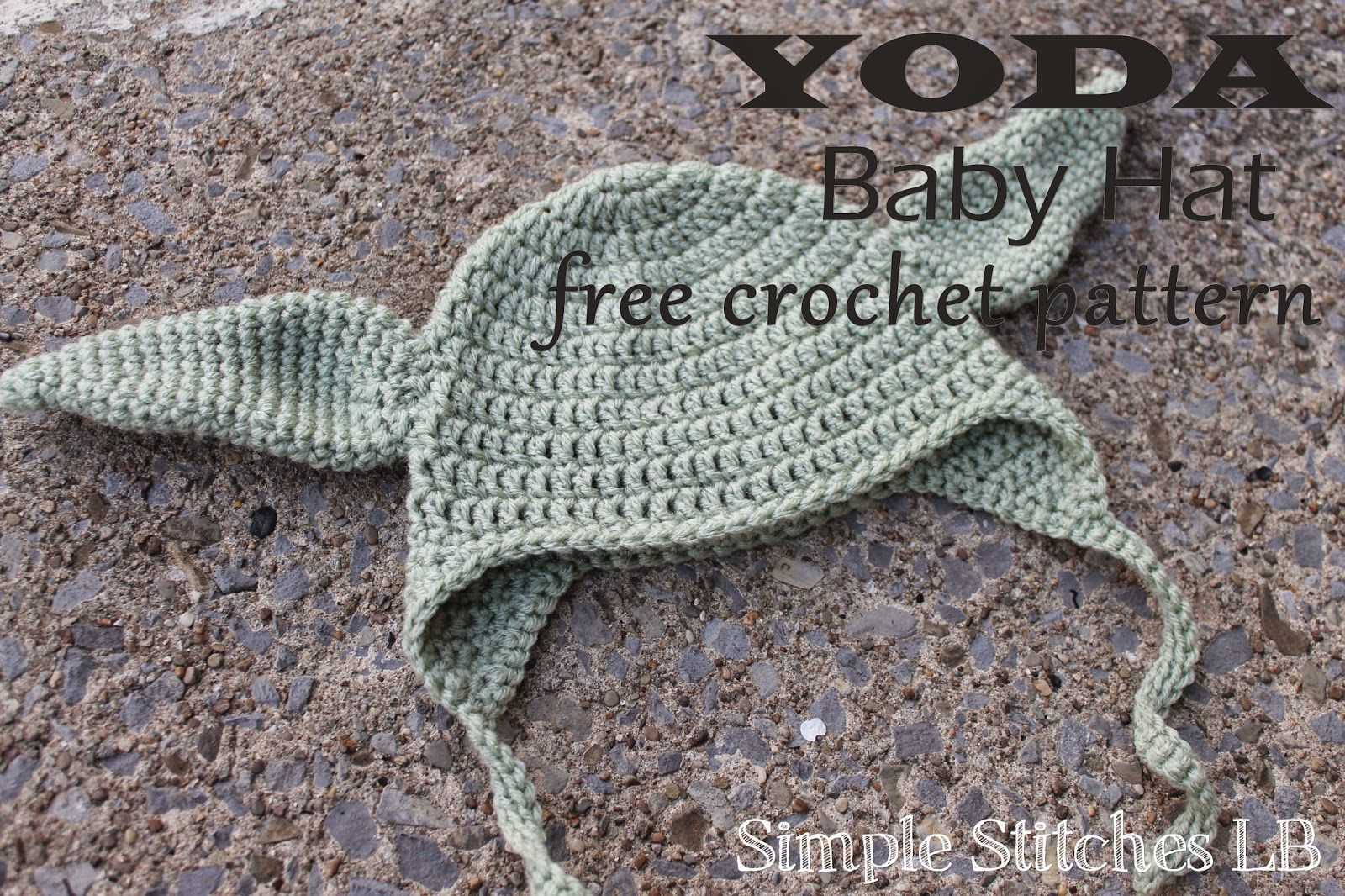 Simple Stitches: FREE PATTERN: Yoda Baby Hat | Crochet Love ...