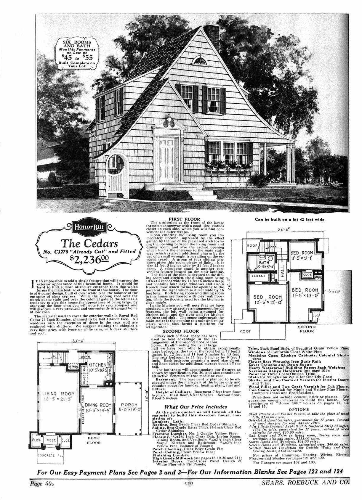 Sears Kit Home Floor Plan Is 90 My House Exterior Very