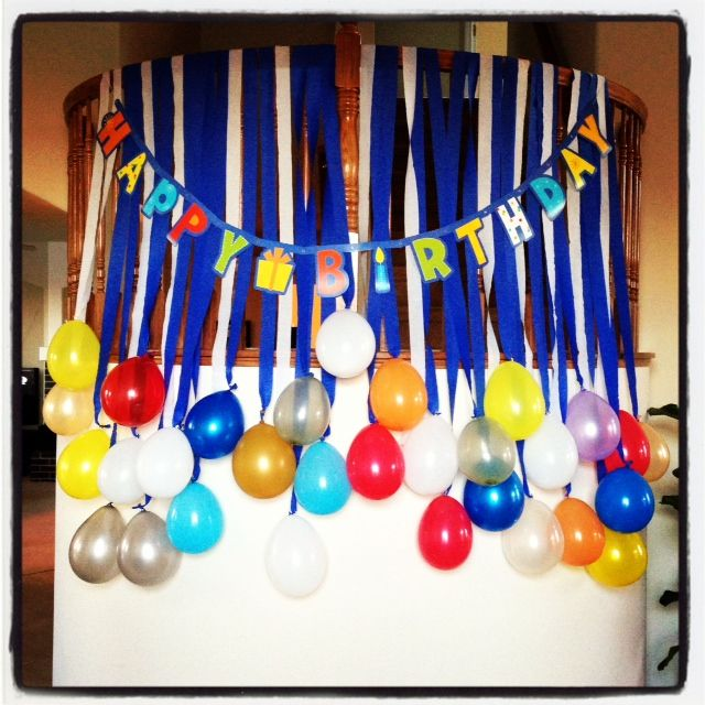 Husbands birthday party decoration birthdays Pinterest