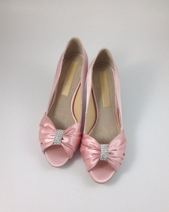 4a1d818ce83 Sweet Pink Wedding Shoes with Rhinestones Pastel by ammiejoyce ...