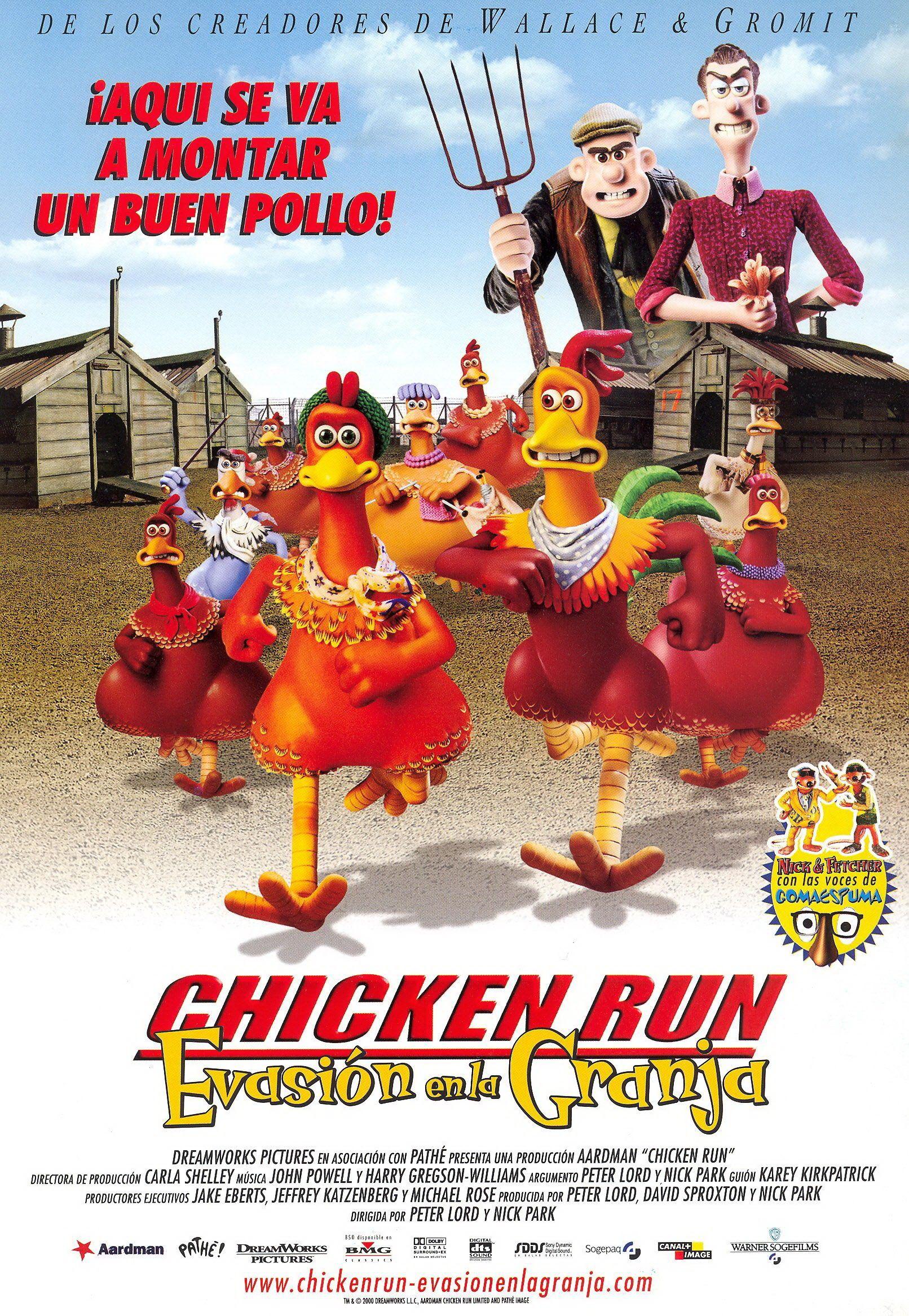 Chicken Run Evasión En La Granja Películas Completas Carteles De Cine Peliculas