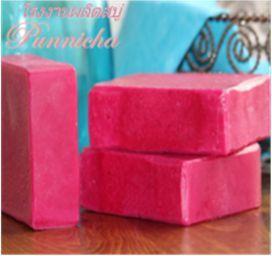 สบู่แครนเบอรี่ สบู่พัณณิชา Punnicha Soap โรงงานผลิตสบู่
