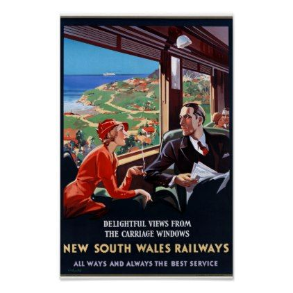 Australia New South Wales Restored Vintage Poster Zazzle Com Vintage Travel Posters Travel Posters Posters Australia