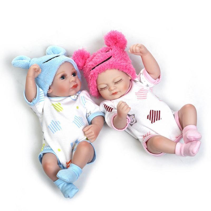 "11/"" Full Body Reborn Doll Cute Baby Girl Newborn Vinyl Soft Silicone Toy Gift"