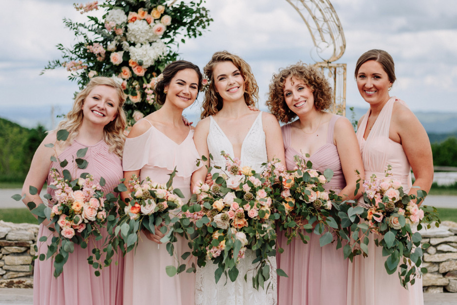 Gorgeous Mountain Wedding With Diy Flowers From Fiftyflowers