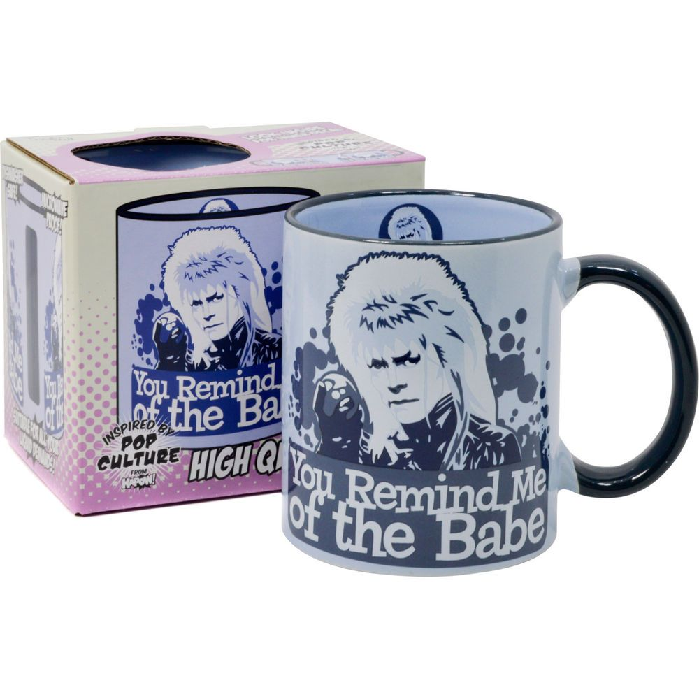 David Bowie Remind Me of The Babe Coffee Tea Cup Gift for Him Labyrinth Mug