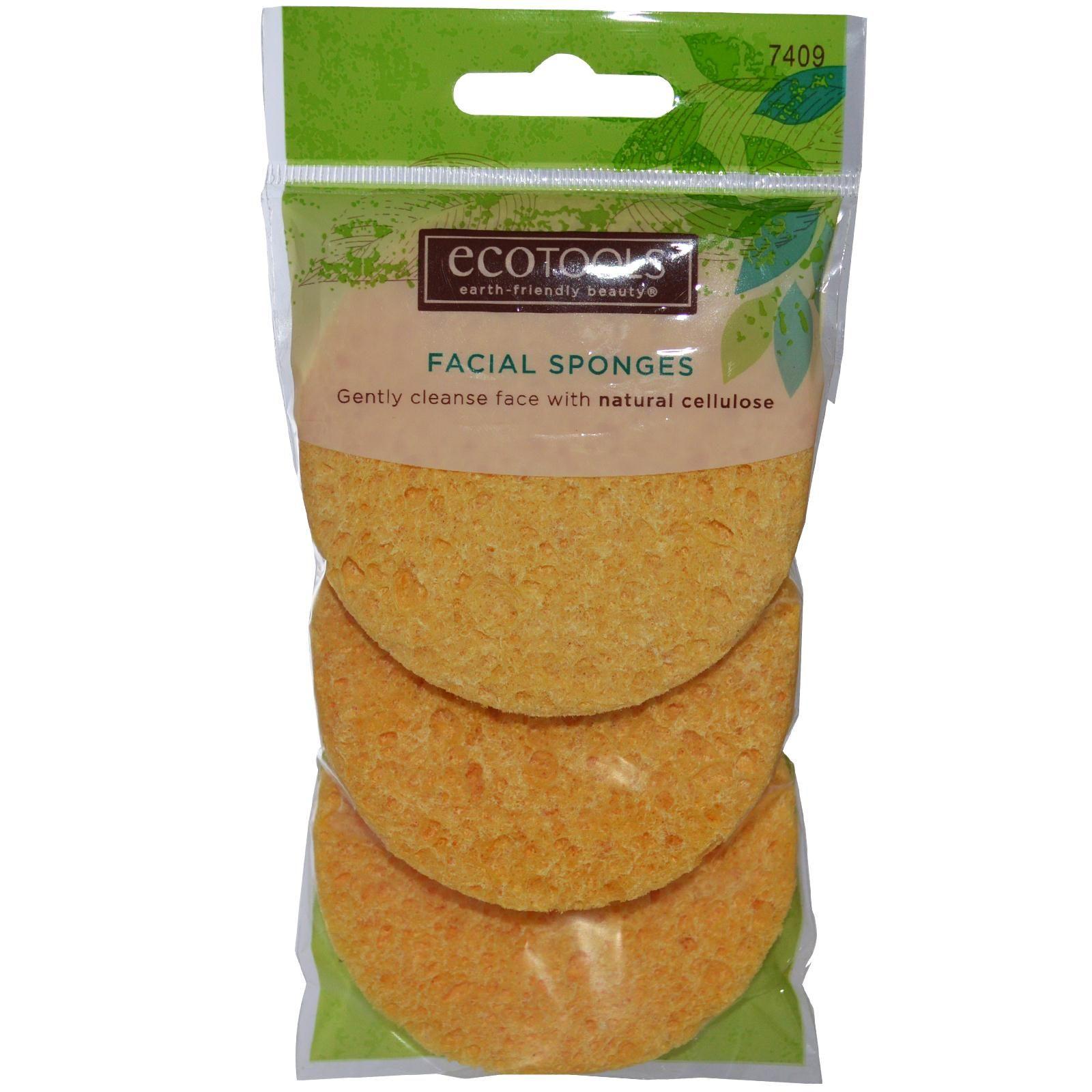 EcoTools, Facial Sponges, 3 Pack (Discontinued Item