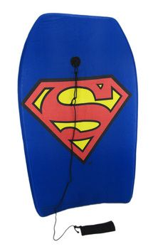 super awesome superman logo body board boogie board
