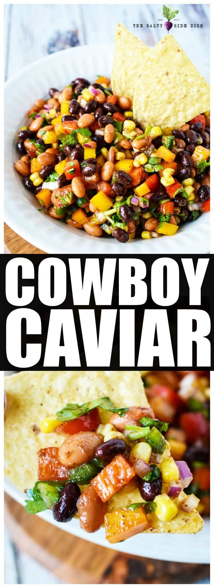 Cowboy Caviar | Easy Texas Dip with Avocado | Salty Side Dish #dipsandappetizers
