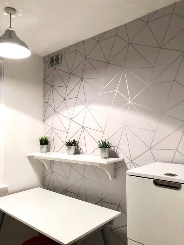 Zara Shimmer Metallic Wallpaper Soft Grey Silver in 2020