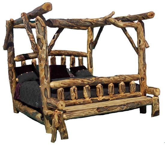 Rustic Bedroom Furniture, Log Bed, Mission Beds, Burl Wood