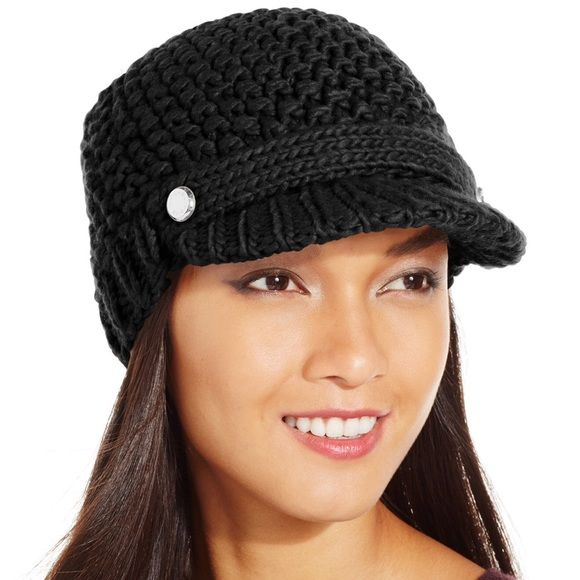 Black Michael Kors knit hat Black Michael Kors knit hat. Brand new. Paid $48 for this hat. Has two silver buttons with Michael Kors imprinted in it that are located on both sides of the bill. MICHAEL Michael Kors Accessories Hats
