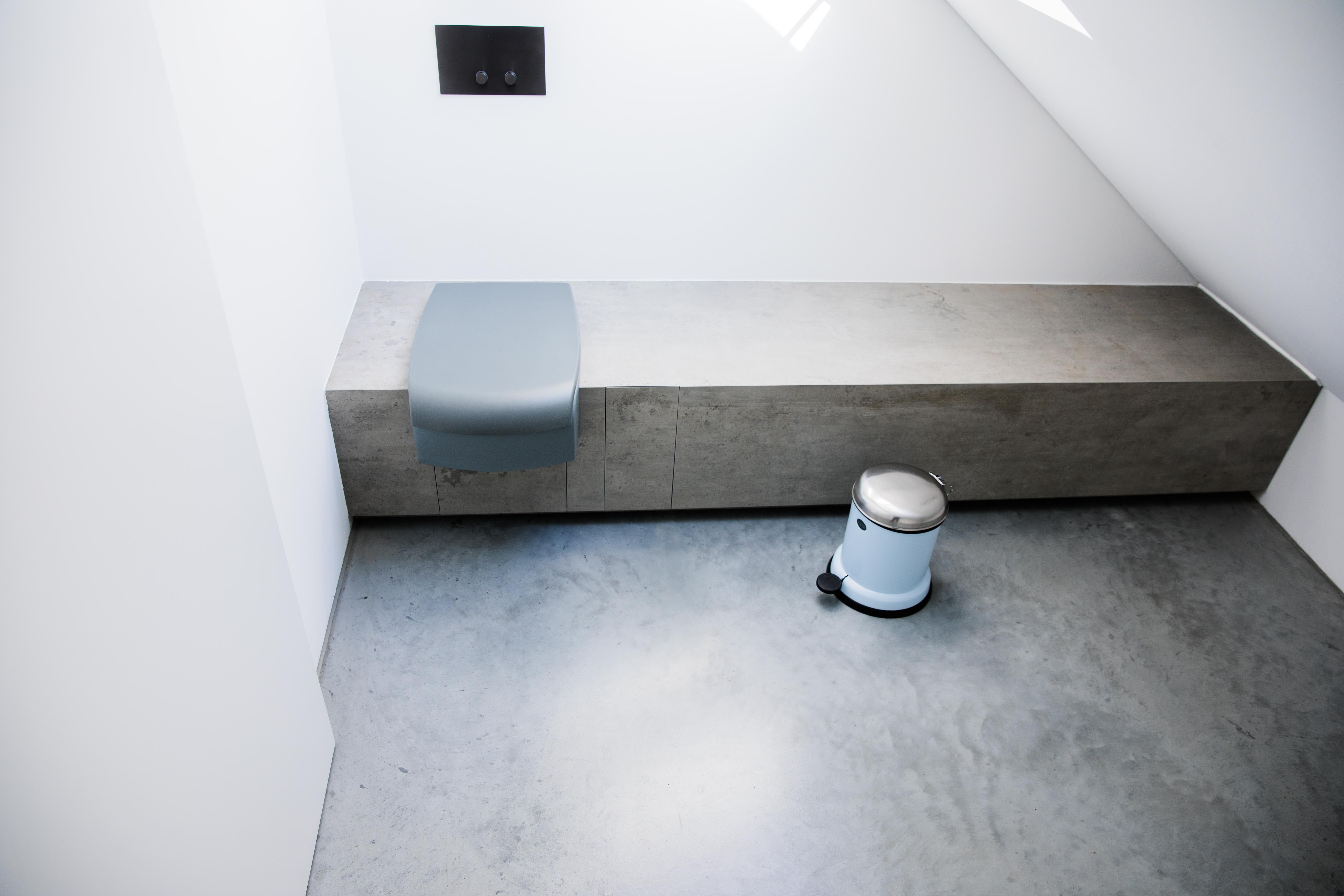 design badezimmer designboden sichtestrich beton mit