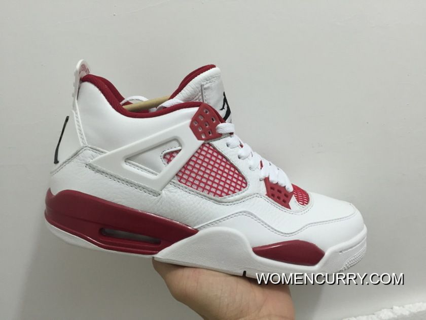 """ec246984e893 Alternate  89"""" Air Jordan 4 White Black-Gym Red Best"""