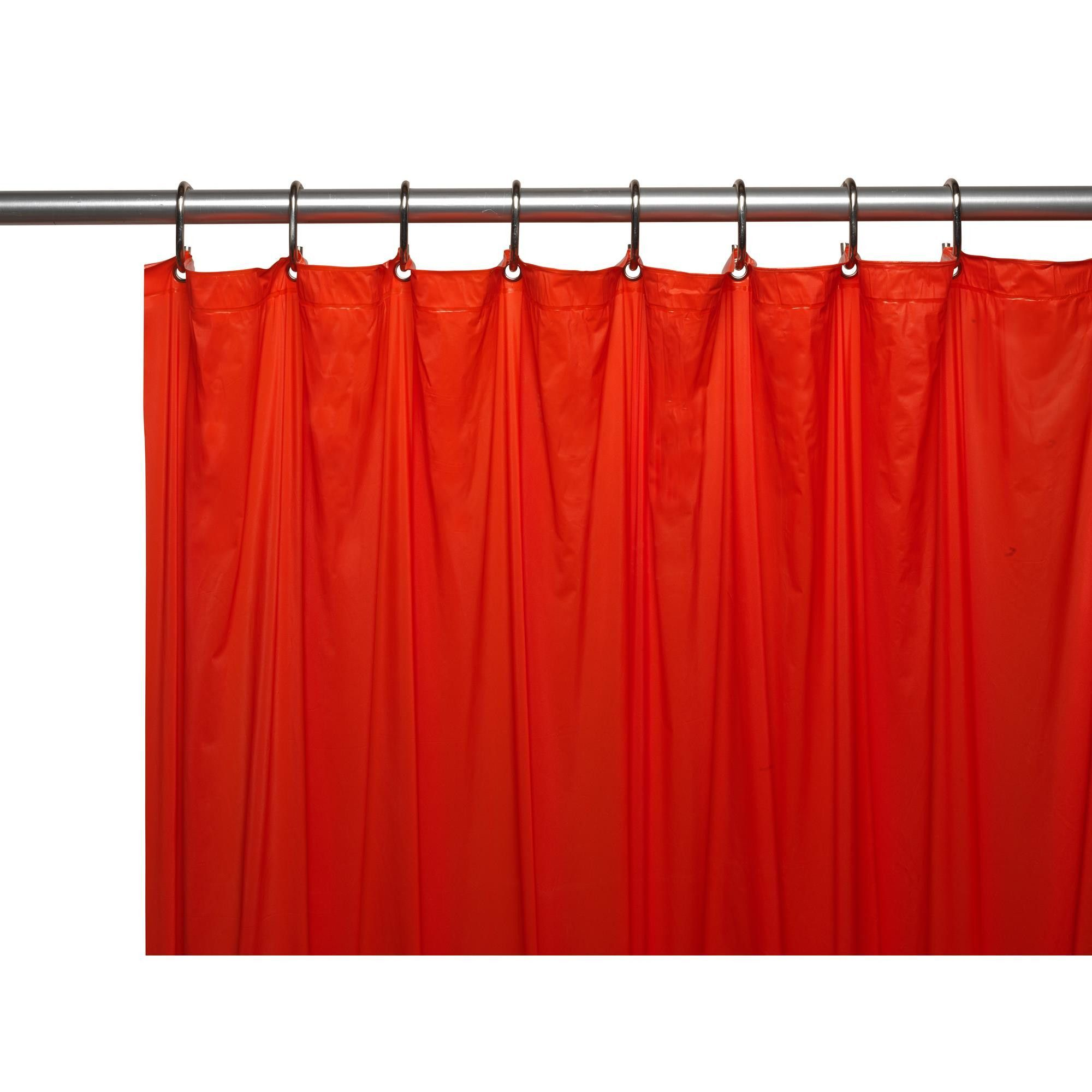Carnation Home 3 Gauge Vinyl Shower Curtain Liner W Weighted Magnets And Metal Grommets In